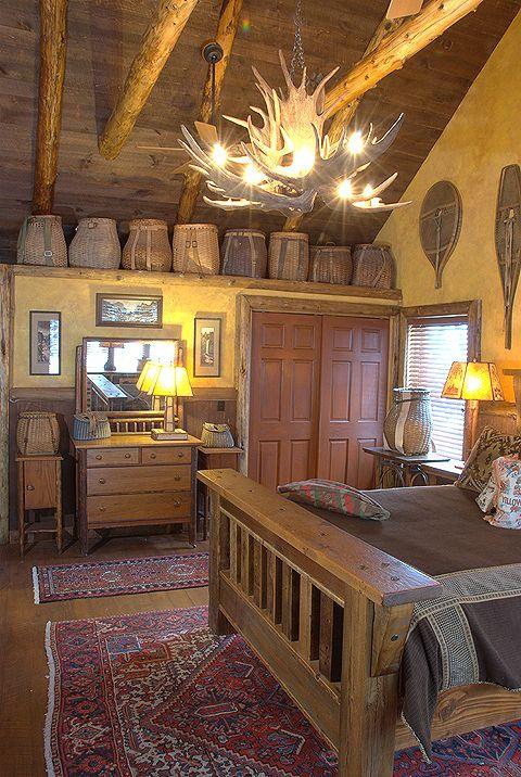 Rustic Bedroom For Cabin.