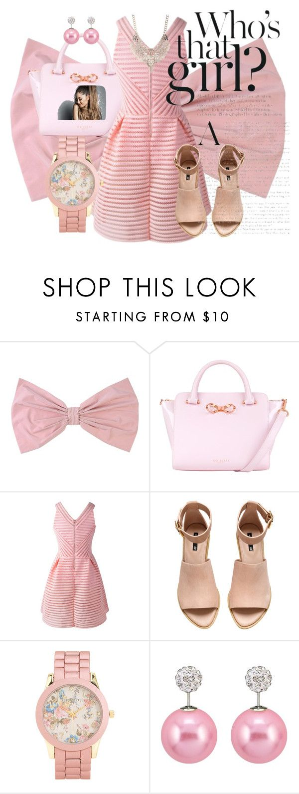 """""""Is it Ari??"""" by nisha-boo ❤ liked on Polyvore featuring PINK BOW, Ted Baker, H&M, Aéropostale and Jane Norman"""