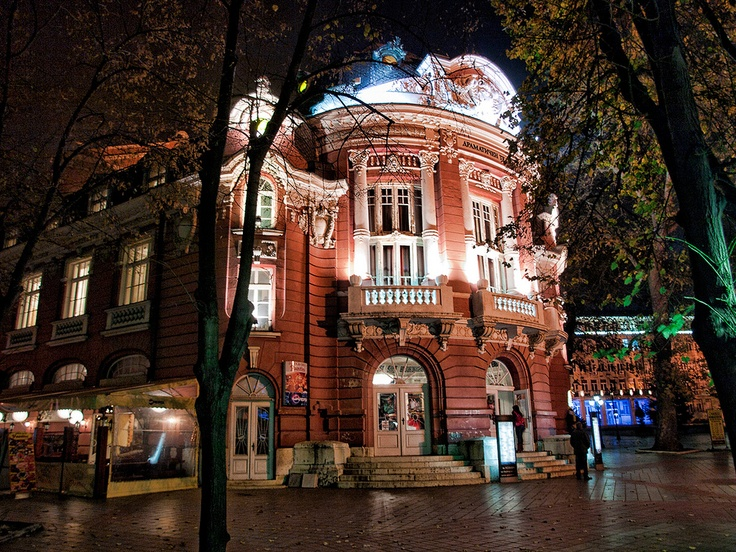 The city Opera Varna Bulgaria