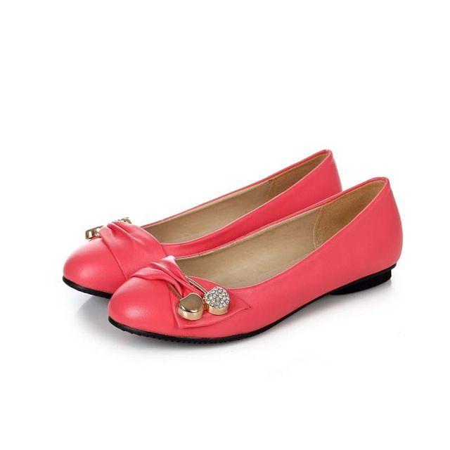 Aliexpress.com: Compre Enmayer branco preto vermelho rosa verde mulheres livres do transporte sapatos da moda apartamentos sapatos grandes size34 47 do sexo feminino sapatos de ballet das mulheres flats de confiança shoe hardware fornecedores em ENMAYER Footwear Store