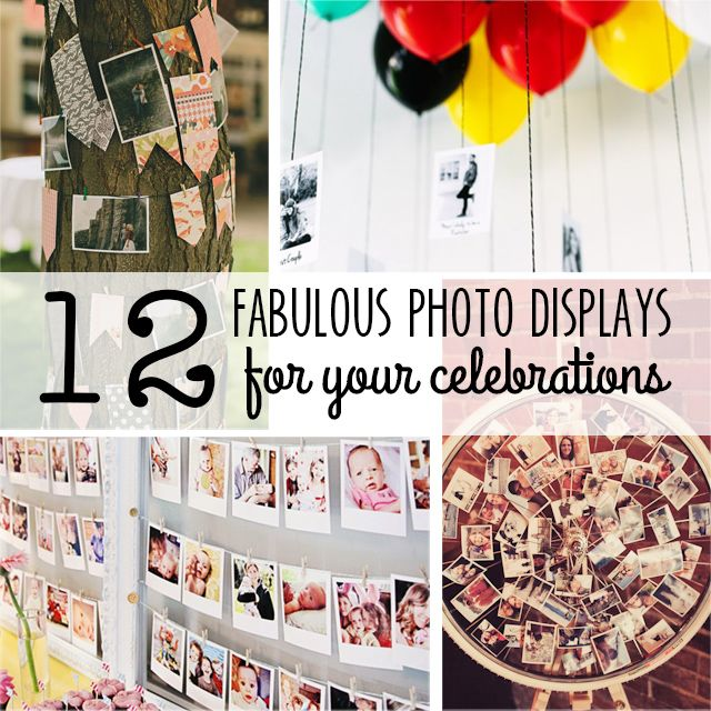 Photo Displays - Party Contributor - Organize and Decorate Everything