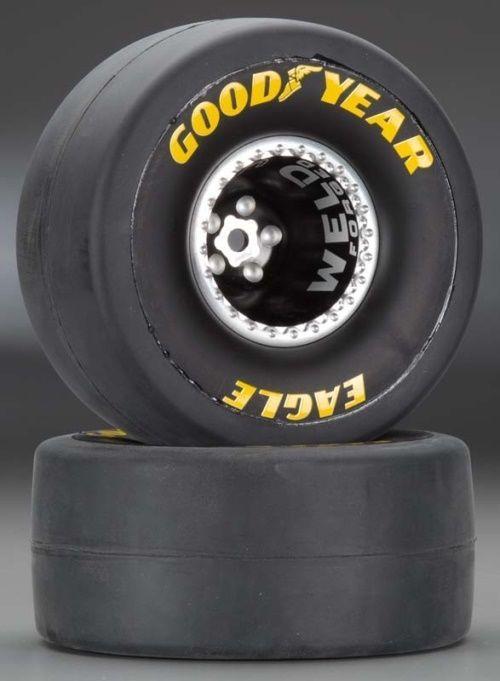 Traxxas 6968 Mounted Tires/Wheels Aluminum Weld Wheel Rear (2) Funny Car #wheel #rear #funny #weld #aluminum #mounted #tires #wheels #traxxas