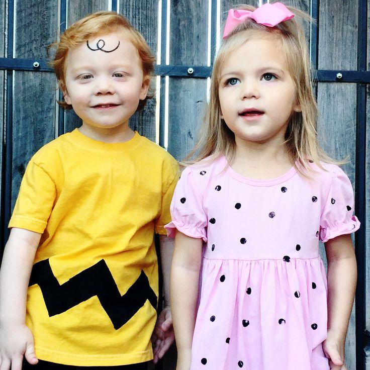 DIY Charlie Brown and Sally. Boy/Girl Twins costume