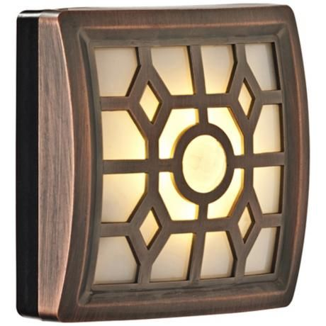 Fulcrum Soft Glow LED Bronze Sensor Night Light - #4N010   LampsPlus.com