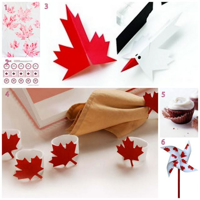 O Canada!  Canada Day DIY, craft and recipe ideas.