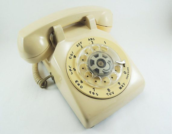 Vintage Rotary Dial WORKING Desk Phone by AtomicRanchVintage