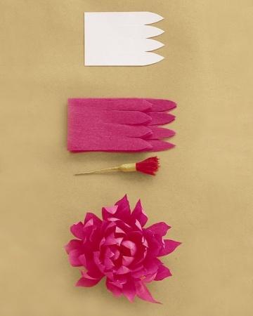how to make a paper dahlia / martha stewart