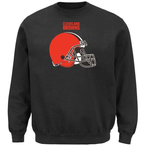 Men's Cleveland Browns Black Critical Victory Crew Sweatshirt