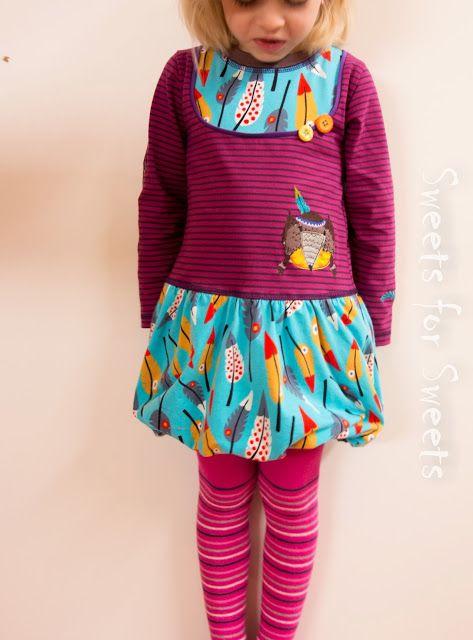 Holly Kleidchen aus Lila-Lotta Pluma Stöffchen