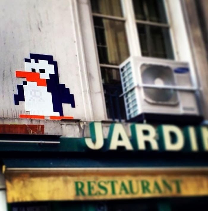 French Street Artist Invader just returned from his winter holidays in Switzerland and started another round of invasion on the streets of Paris
