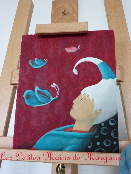 Dreaming by Margaux FB Oil over wood