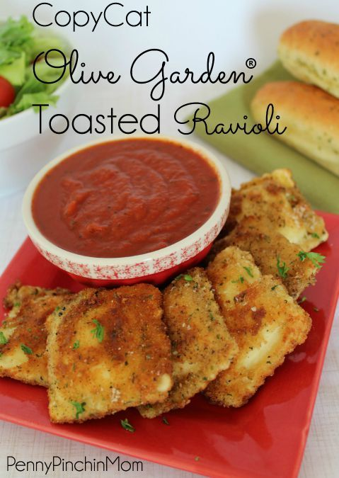 O.M.G!  Copycat Olive Garden Toasted Ravioli ..... totally making this!!!!!