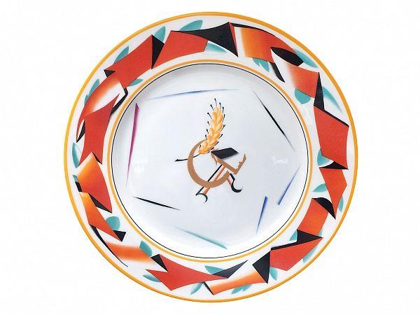 Тарелка 270 мм форма Европейская-2 рисунок Красная лента арт. 80.87439.00.1, Декоративная тарелка - Европейская-2,Декоративная тарелка,Красная лента,Чехонин С.В.,Агитфарфор