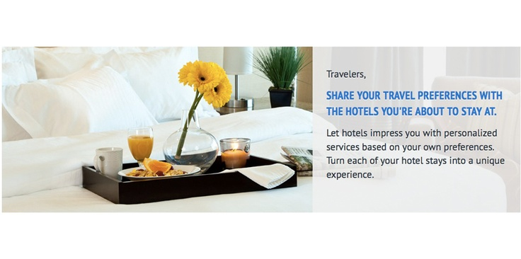 Let hotels impress you with personalized services based on your own preferences. Turn each of your hotel stays into a unique experience.