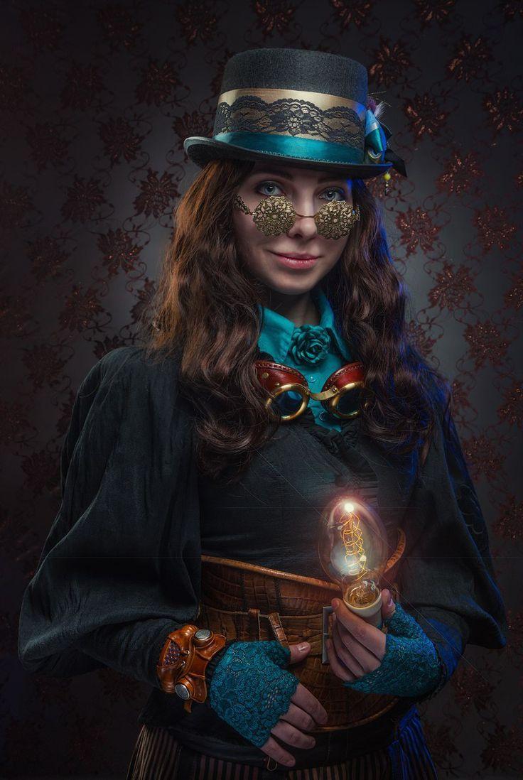 Steampunk portrait by gadget-eneus.deviantart.com on @DeviantArt #SteamPUNK ☮k☮