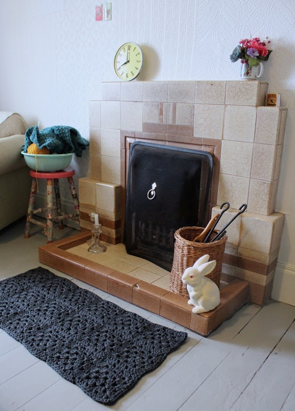 granny square rug #Hoooked #zpaghetti