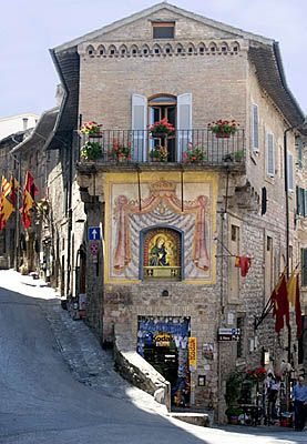 Umbria italy,  actually in Assisi.  The Blessed Mother is ponying to the left - the way to our hotel!