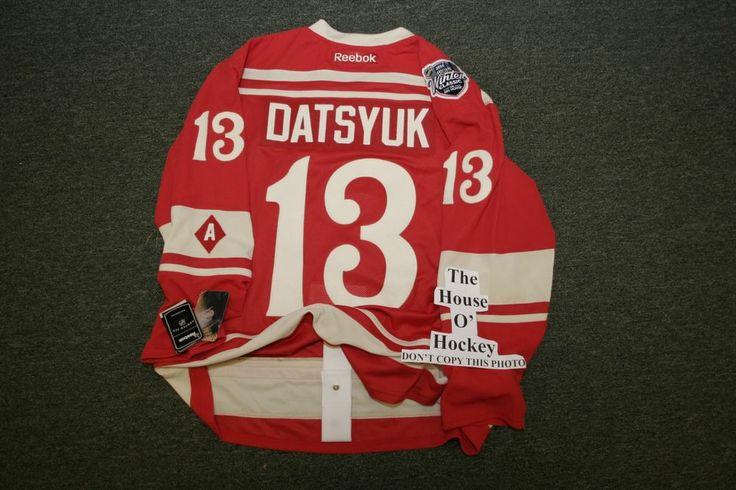 ... PAVEL DATSYUK DETROIT REDWINGS 7231 2014 WINTER CLASSIC AUTHENTIC HOCKEY  JERSEY Pavel Datsyuk 13 ... 1a02a7f70