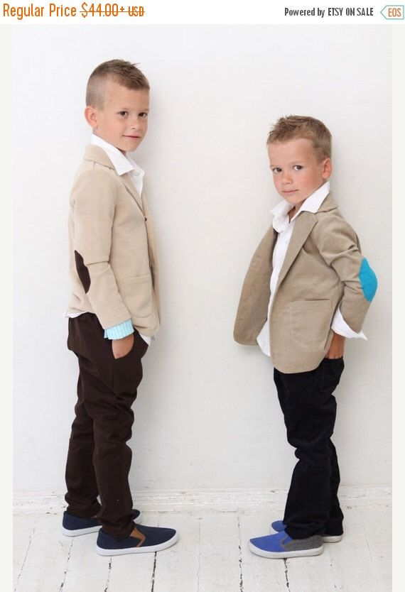 Black Friday Sale Boys blazer Boys Wedding outfit Baptism Ring bearer suit Tan Sweatshirt jacket with elbow patches Boys clothes clothing Ba by mimiikids on Etsy https://www.etsy.com/listing/198547451/black-friday-sale-boys-blazer-boys