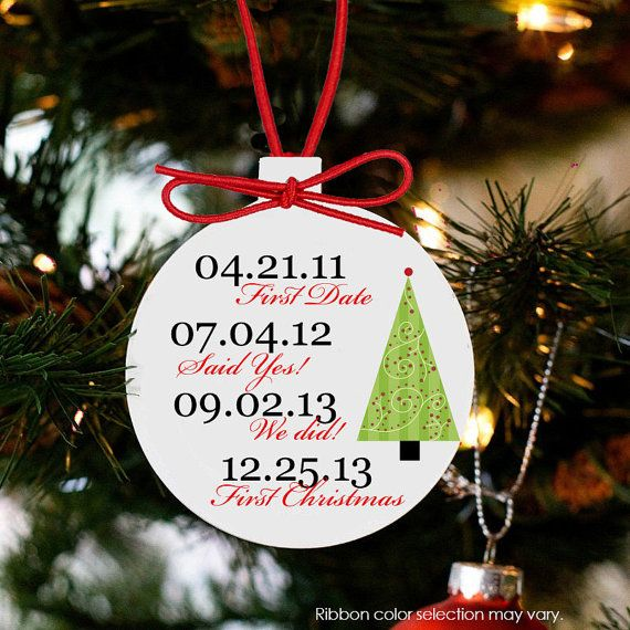 our first Christmas ornament important dates by ornamentstop