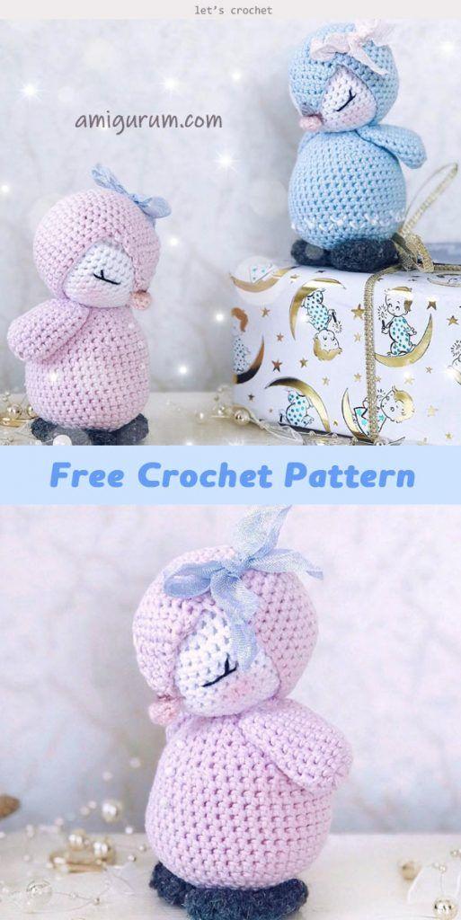 Crochet Baby Penguin Amigurumi Free Pattern - Crochet Penguin | 1024x513