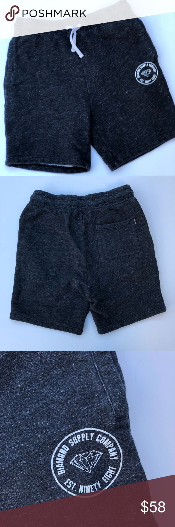 """Diamond Supply Company Shorts All items photographed immediately prior to packing for shipping  13.5"""" rise 6.5"""" inseam 15"""" across waist Diamond Supply Co. Shorts Athletic"""