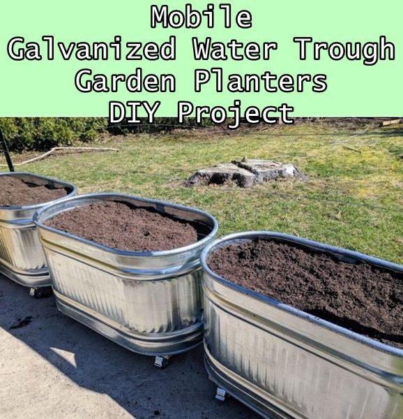 Mobile Galvanized Water Trough Garden Planters DIY Project Homesteading  - The Homestead Survival .Com