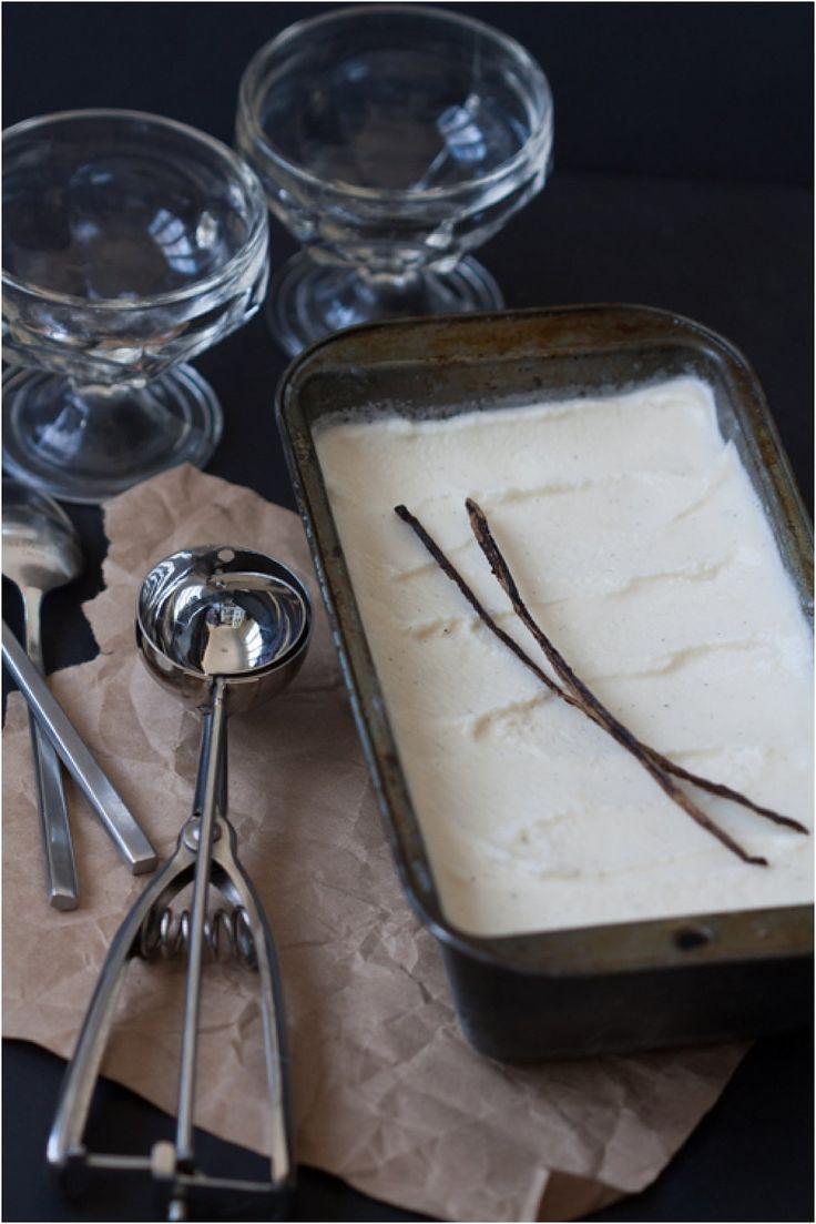 3-Ingredient Maple Vanilla Frozen Yogurt