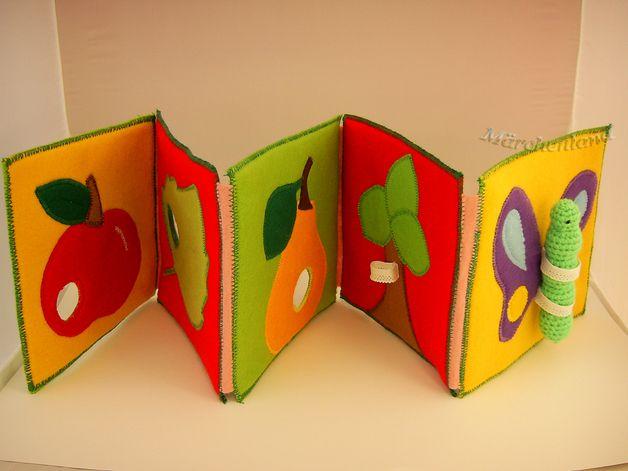 Stoffbuch für kleine Kinder -  Die Raupe.