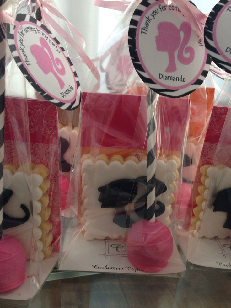 Barbie Loot bags -butter cookies and cakes pop -
