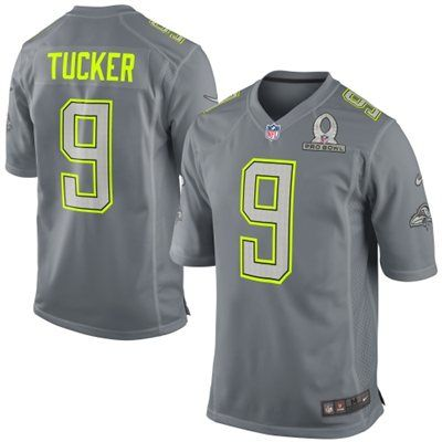 2014 Pro Bowl Team Sanders Justin Tucker Nike Game Jersey - Gray