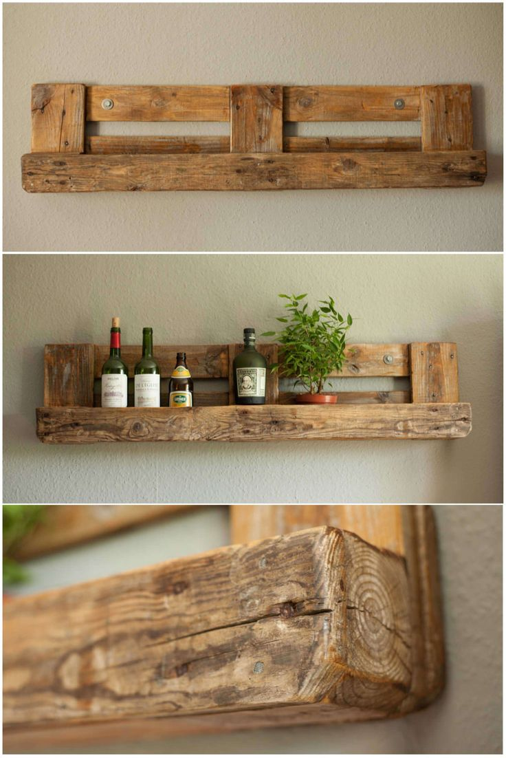 Amazing Pallet Rustic Shelf #homedécor #livingroom #recycledpalletshelves…