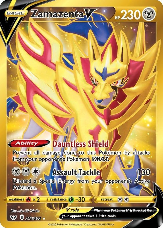 Zamazenta V Proxy Not Holo Hand Made Pokemon Card Rare Pokemon Cards Cool Pokemon Cards Pokemon Cards Legendary