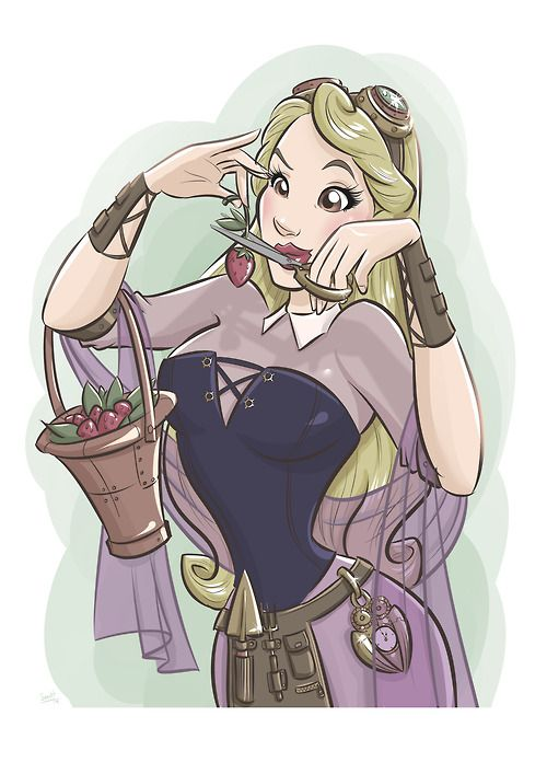 Sleeping Beauty Steampunk by SaraH con Hache