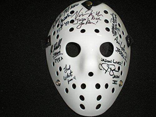Jason Voorhees 7 Signed White Hockey Mask Friday the 13th Kane Hodder  @ niftywarehouse.com