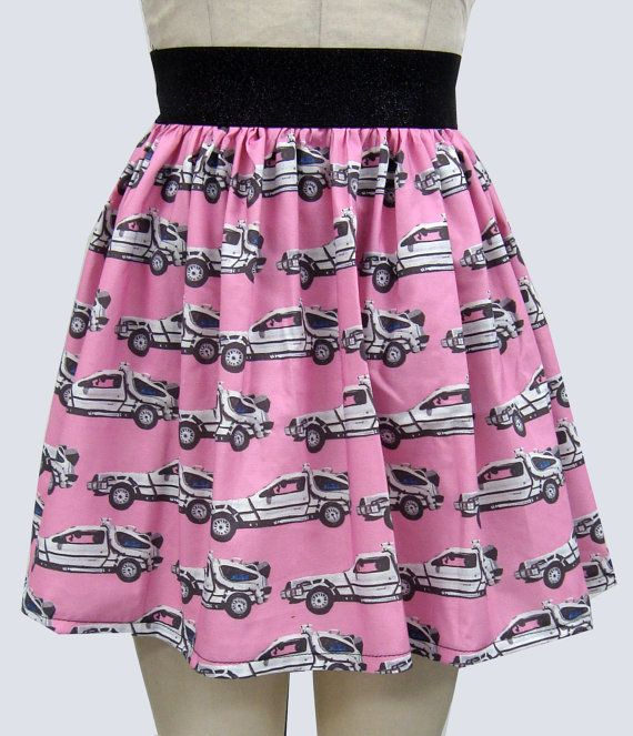 Back to the Future Delorean Full Skirt by GoChaseRabbits on Etsy, $44.99 not really but just got fun.