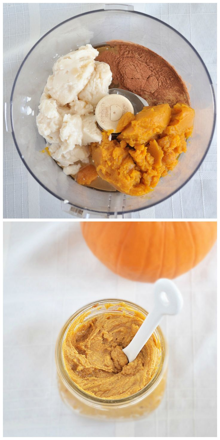 In just five minutes, you can have creamy, dreamy Pumpkin Coconut Butter. Use it as a spread, drizzle over oatmeal and just eat with a spoon! #vegan #pumpkin #glutenfree #paleo