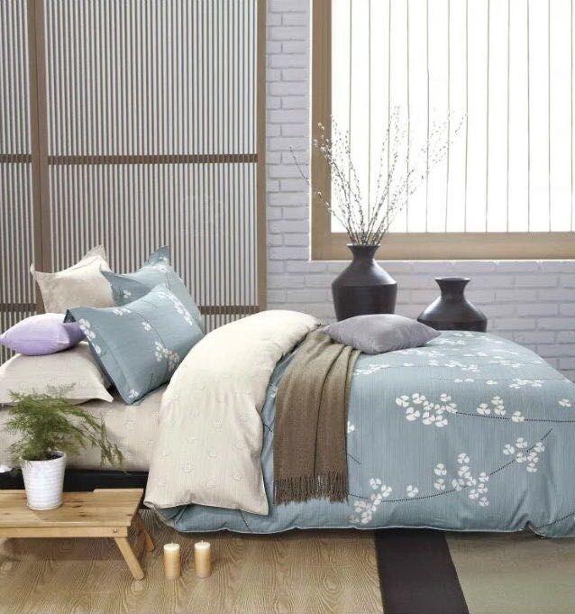 Obojstranné posteľné obliečky s bielym vzorom