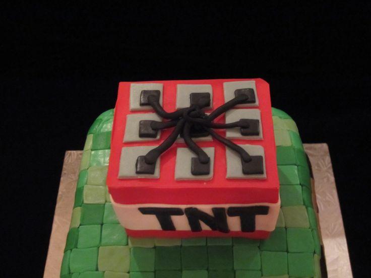 Minecraft TNT cake Minecraft cakes Pinterest Cakes ...