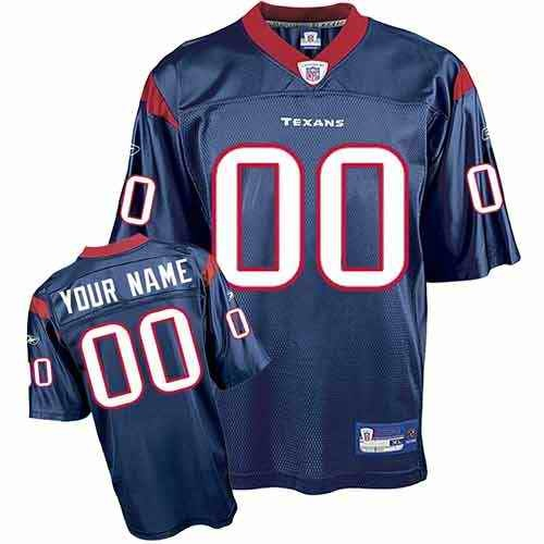 Houston Texans Youth Customized blue Jersey