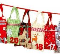 Calendario de adviento con sacos grandes