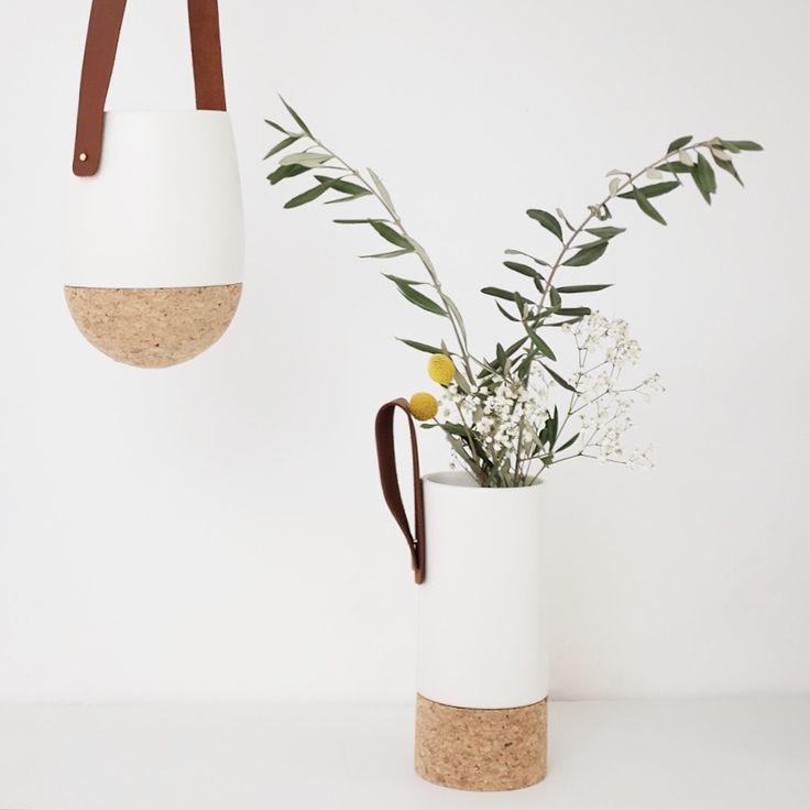 @iglooaix - Vases céramique et liège Bloomingville - www.ligloo.bigcartel.com - © photo @mytrendbook