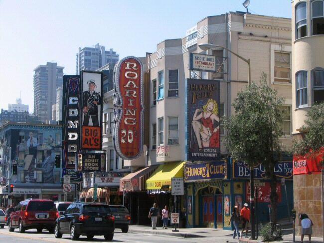 little italy san francisco | Edificios del Barrio de North Beach de San Francisco en California