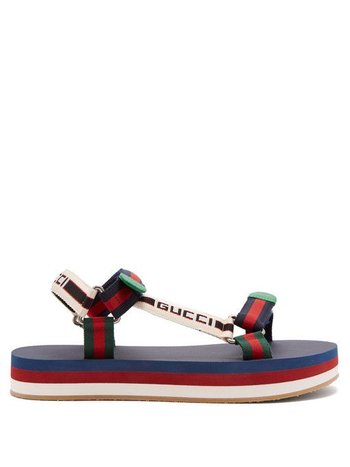 e778d61686e GUCCI Bedlam logo-strap sandals.  gucci  shoes