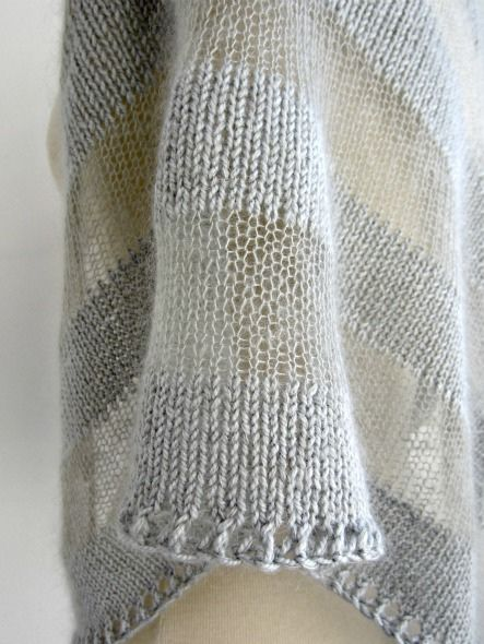 12.7.04 by quidpix, via Flickr: Shawl, seen on Ravelry: Shibui Silk Cloud and __?__. Gorgeous.