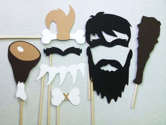 8 Caveman Photo Booth Props - Paleo Party - Caveman and Cavewoman on Etsy, $16.00