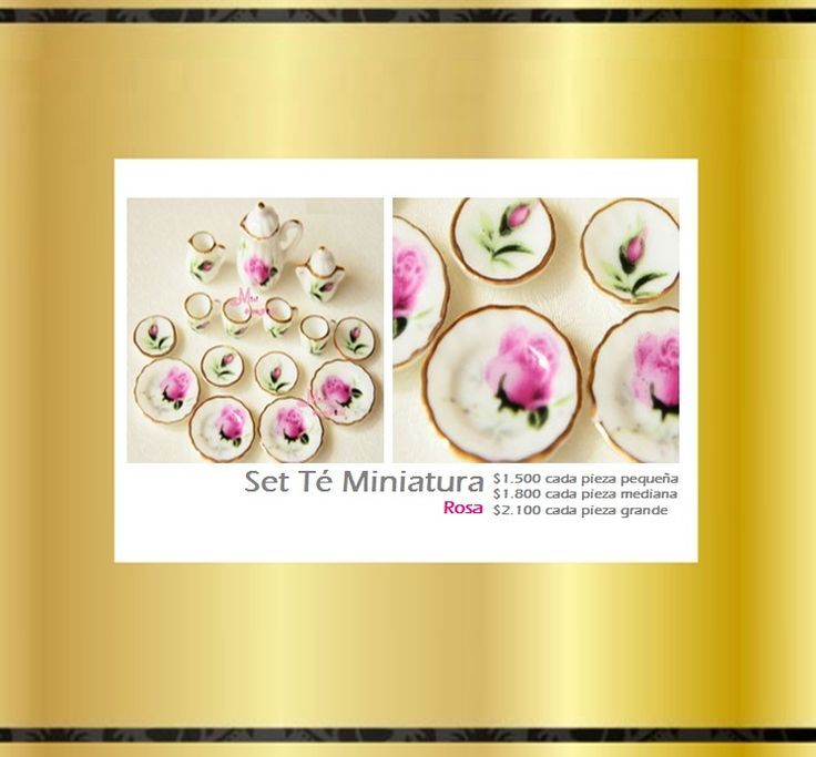 Set Miniatura Tea Cup Rosa. Tienda MyFavorite_4d, only beautiful things www.facebook.com/myfavorite4d