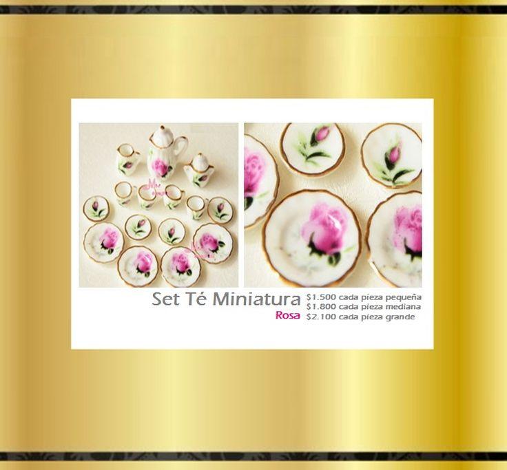 Set Miniatura Tea Cup Rosa. Tienda MyFavorite_4d, only beautiful things www.facebook.com/myfavorite4d