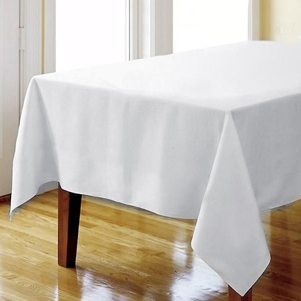 70 White Square Tuscany Inspired 250gsm Polyester Tablecloth Table Cloth Square Tablecloth Tablecloth Sizes