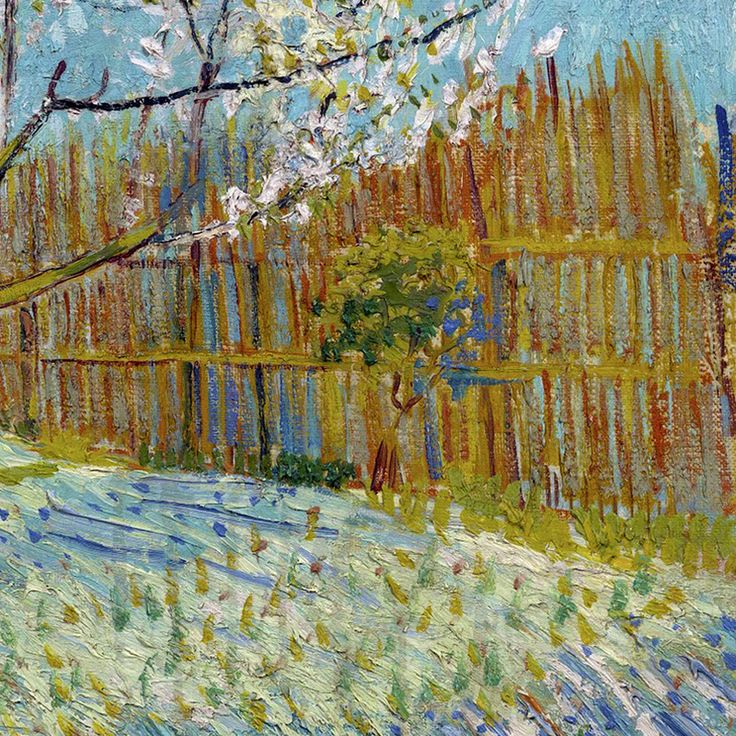 The Pink Peach Tree (detail) by Vincent van Gogh